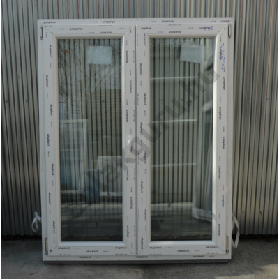 120x150 Kétszárnyú bukó/nyíló műanyag ablak RAKTÁRRÓL
