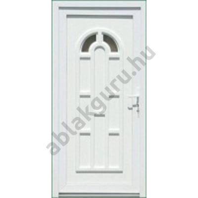 100x210 Műanyag bejárati ajtó öt kamrás profilból - Boszporusz 2 - BAL - Befelé nyíló - (Gyártási méret: 98x208)