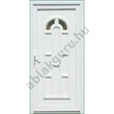 100x210 Műanyag bejárati ajtó öt kamrás profilból - Boszporusz 2 - JOBB - KIFELÉ NYÍLÓ - (Gyártási méret: 98x208)
