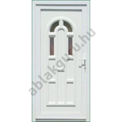 100x210 Műanyag bejárati ajtó öt kamrás profilból - Boszporusz 4 - BAL - Befelé nyíló - (Gyártási méret: 98x208)