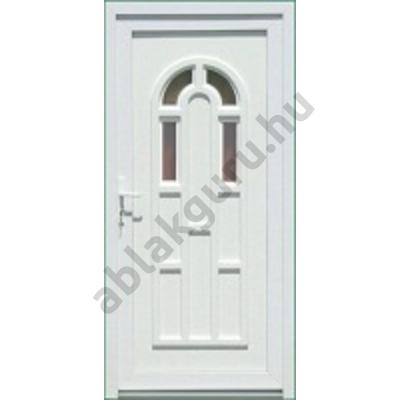 100x210 Műanyag bejárati ajtó öt kamrás profilból - Boszporusz 4 - JOBB - KIFELÉ NYÍLÓ - (Gyártási méret: 98x208)