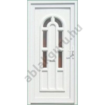 100x210 Műanyag bejárati ajtó öt kamrás profilból - Boszporusz 6 - BAL - Befelé nyíló - (Gyártási méret: 98x208)