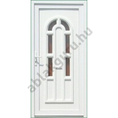 100x210 Műanyag bejárati ajtó öt kamrás profilból - Boszporusz 6 - JOBB - Befelé nyíló - (Gyártási méret: 98x208)
