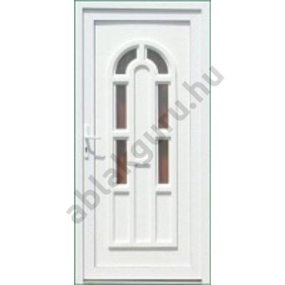 100x210 Műanyag bejárati ajtó öt kamrás profilból - Boszporusz 6 - JOBB - KIFELÉ NYÍLÓ - (Gyártási méret: 98x208)