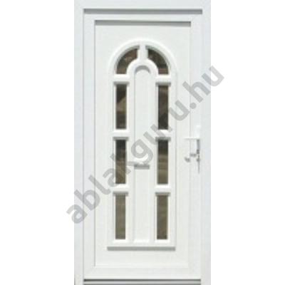 100x210 Műanyag bejárati ajtó öt kamrás profilból - Boszporusz 8 - BAL - Befelé nyíló - (Gyártási méret: 98x208)