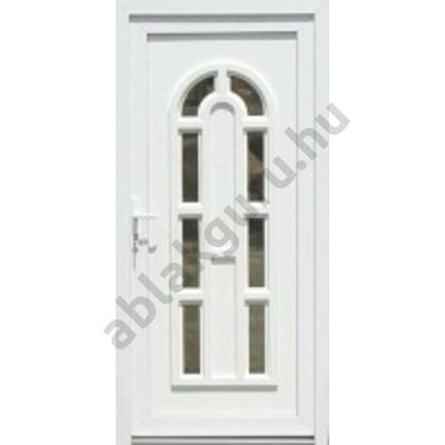 100x210 Műanyag bejárati ajtó öt kamrás profilból - Boszporusz 8 - JOBB - Befelé nyíló - (Gyártási méret: 98x208)