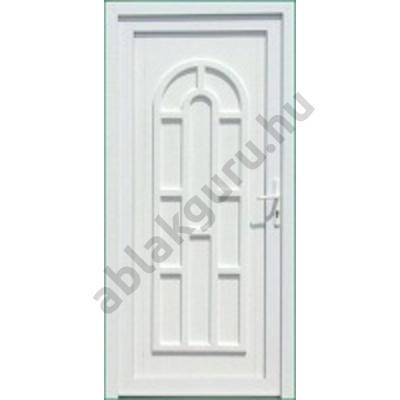 100x210 Műanyag bejárati ajtó öt kamrás profilból - Boszporusz tömör - JOBB - KIFELÉ NYÍLÓ - (Gyártási méret: 98x208)