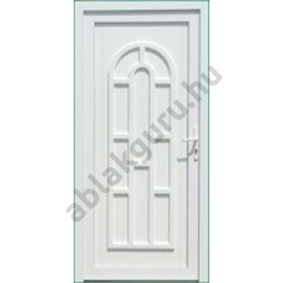 100x210 Műanyag bejárati ajtó öt kamrás profilból - Boszporusz tömör - BAL - Befelé nyíló - (Gyártási méret: 98x208)