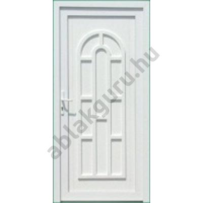 100x210 Műanyag bejárati ajtó öt kamrás profilból - Boszporusz tömör - JOBB - Befelé nyíló - (Gyártási méret: 98x208)