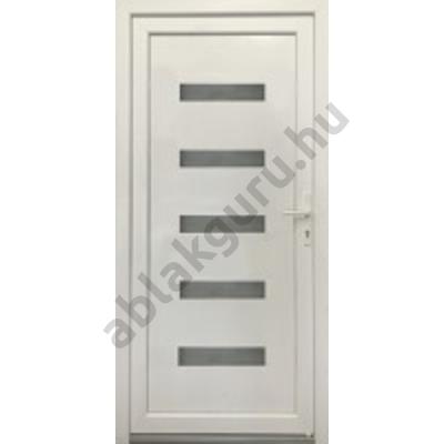 100x210 Műanyag bejárati ajtó öt kamrás profilból - Hídas rátét NÉLKÜL - BAL - Befelé nyíló - (Gyártási méret: 98x208)