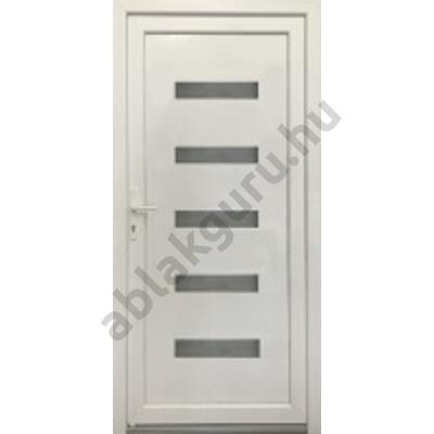 100x210 Műanyag bejárati ajtó öt kamrás profilból - Hídas rátét NÉLKÜL - JOBB - KIFELÉ NYÍLÓ - (Gyártási méret: 98x208)