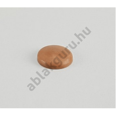 7,5mm tokrögzítő csavar takró sapka (nem sülyesztett beépítéshez) BARNA