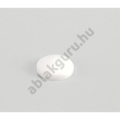 7,5mm tokrögzítő csavar takró sapka (nem sülyesztett beépítéshez) FEHÉR