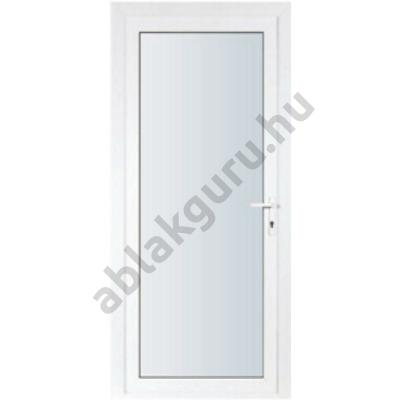 100x210 Műanyag bejárati ajtó öt kamrás ALUPLAST profilból - Teli üveges - 4-16-4 Ug=1,1 üveggel - BAL - Kifelé nyíló - (Gyártási méret: 98x208)