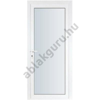 100x210 Műanyag bejárati ajtó öt kamrás ALUPLAST profilból - Teli üveges - 4-16-4 Ug=1,1 üveggel - JOBB - Kifelé nyíló - (Gyártási méret: 98x208)
