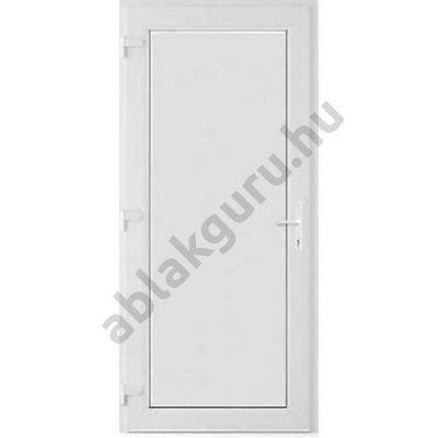 100x210 Műanyag bejárati ajtó öt kamrás ALUPLAST profilból - Teli  - 24mm hőszigetelő ajtólappal - BAL - Befelé nyíló - (Gyártási méret: 98x208)