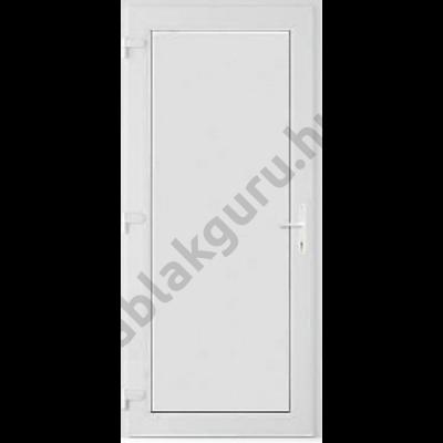100x210 Műanyag bejárati ajtó öt kamrás ALUPLAST profilból - Teli  - 24mm hőszigetelő ajtólappal - BAL - Kifelé nyíló - (Gyártási méret: 98x208)