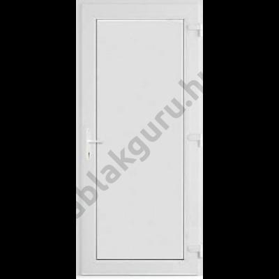 100x210 Műanyag bejárati ajtó öt kamrás ALUPLAST profilból - Teli  - 24mm hőszigetelő ajtólappal - JOBB - Befelé nyíló - (Gyártási méret: 98x208)