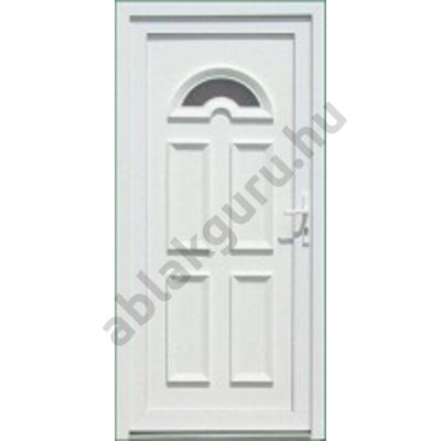 100x210 Műanyag bejárati ajtó öt kamrás profilból - Temze 1 - BAL - Befelé nyíló - (Gyártási méret: 98x208)