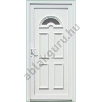100x210 Műanyag bejárati ajtó öt kamrás profilból - Temze 1 - JOBB - Befelé nyíló - (Gyártási méret: 98x208)