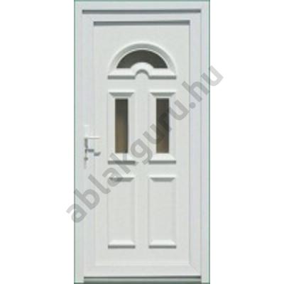 100x210 Műanyag bejárati ajtó öt kamrás profilból - Temze 3 - JOBB - Befelé nyíló - (Gyártási méret: 98x208)