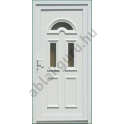 100x210 Műanyag bejárati ajtó öt kamrás profilból - Temze 3 - JOBB - KIFELÉ NYÍLÓ - (Gyártási méret: 98x208)