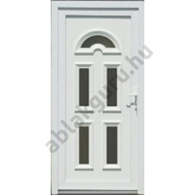 100x210 Műanyag bejárati ajtó öt kamrás profilból - Temze 5 - BAL - Befelé nyíló - (Gyártási méret: 98x208)