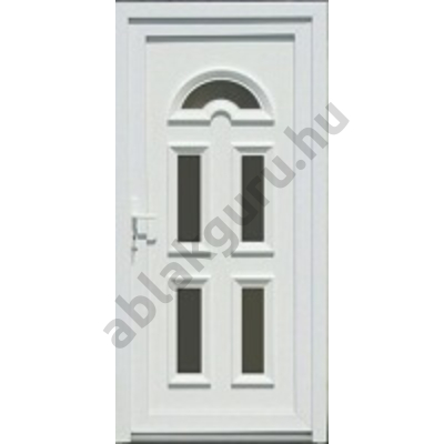 100x210 Műanyag bejárati ajtó öt kamrás profilból - Temze 5 - JOBB - Befelé nyíló - (Gyártási méret: 98x208)