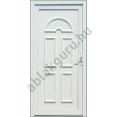 100x210 Műanyag bejárati ajtó öt kamrás profilból - Temze tömör - BAL - Befelé nyíló - (Gyártási méret: 98x208)