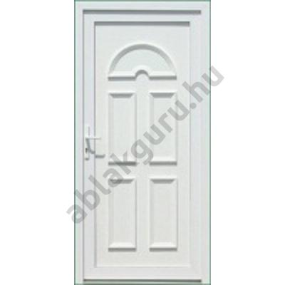 100x210 Műanyag bejárati ajtó öt kamrás profilból - Temze tömör - JOBB - Befelé nyíló - (Gyártási méret: 98x208)